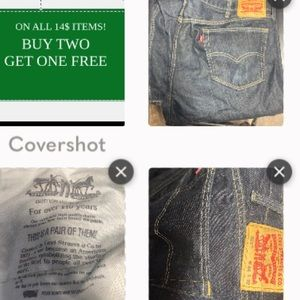 Levi's men's jeans Plus size